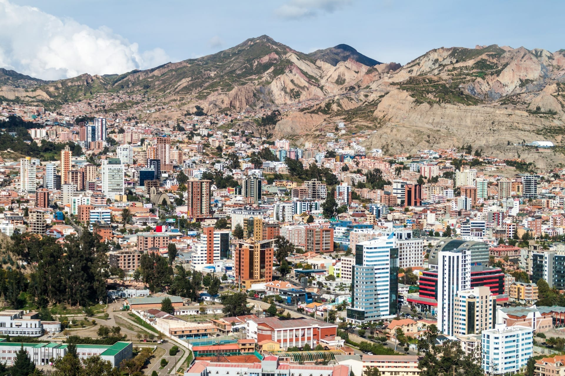 La Paz - South Zone: Green Cable Car