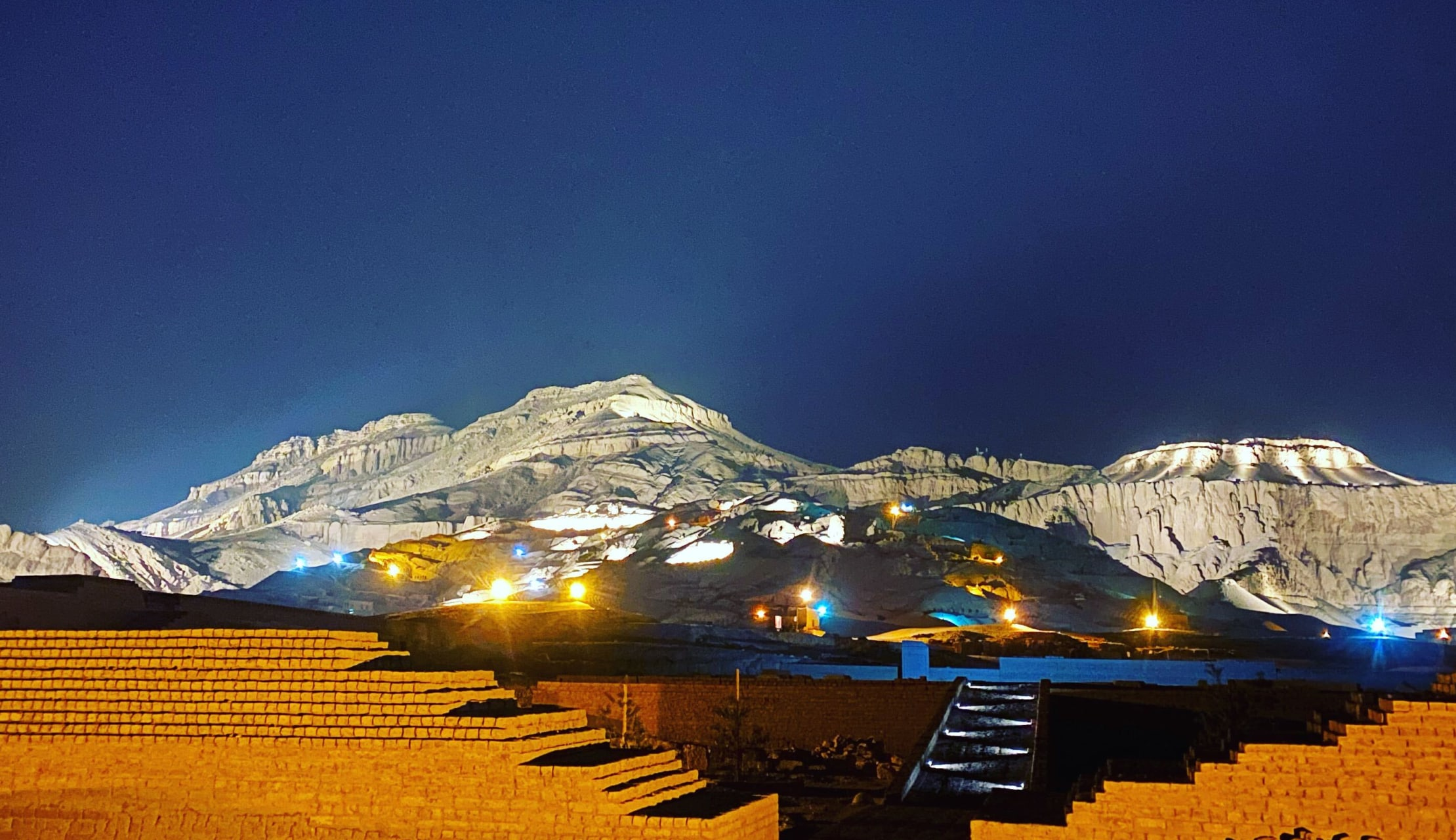 Luxor - The Mountain of Thebes At Night