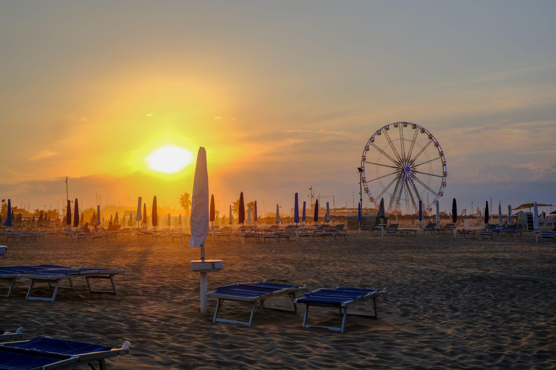 Emilia Romagna - Walk with Me on a Rimini Beach at Sunset
