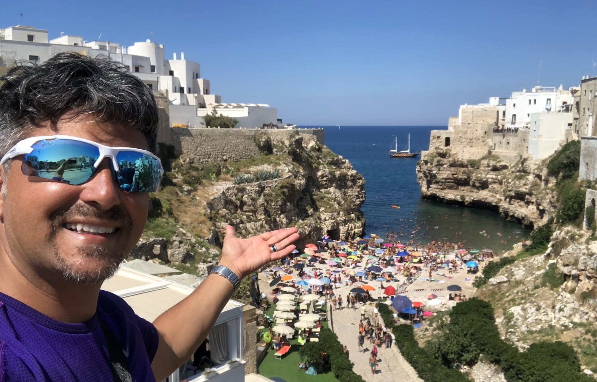 Puglia - The Ancient Town of Polignano a Mare Perched on the Rocks of the Adriatic Sea