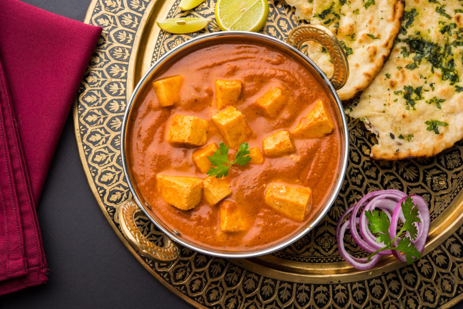 Delhi - Tempting Indian Shahi Paneer/Tofu with Indian Bread