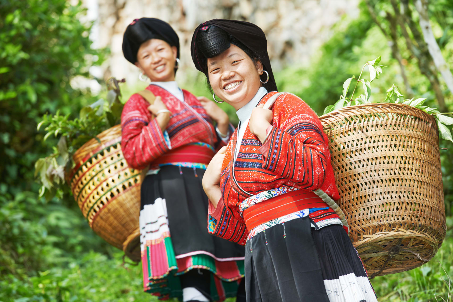 Guilin - Chinese Ethnic Minority Village in Rice Terraces Area