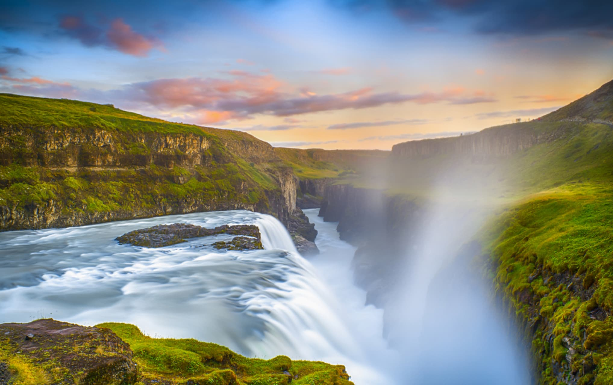 Golden Circle - Gullfoss - the Golden Waterfall
