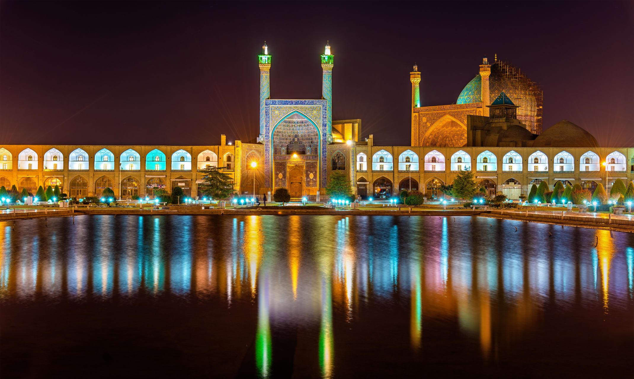 Ispahan - Royal Square at Night: Naqshe Jahan Square, UNESCO Heritage