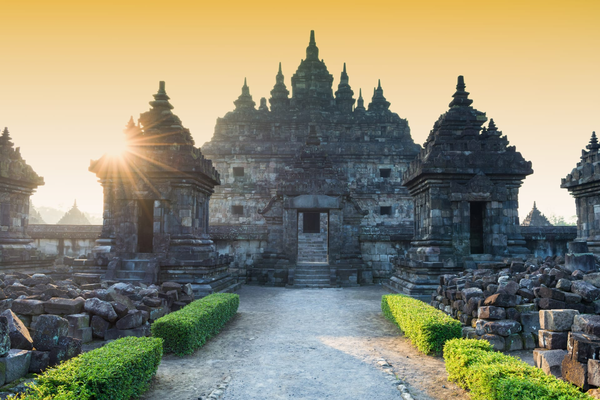 Yogyakarta - Plaosan Temple - a Blend of Buddhist and Hindu