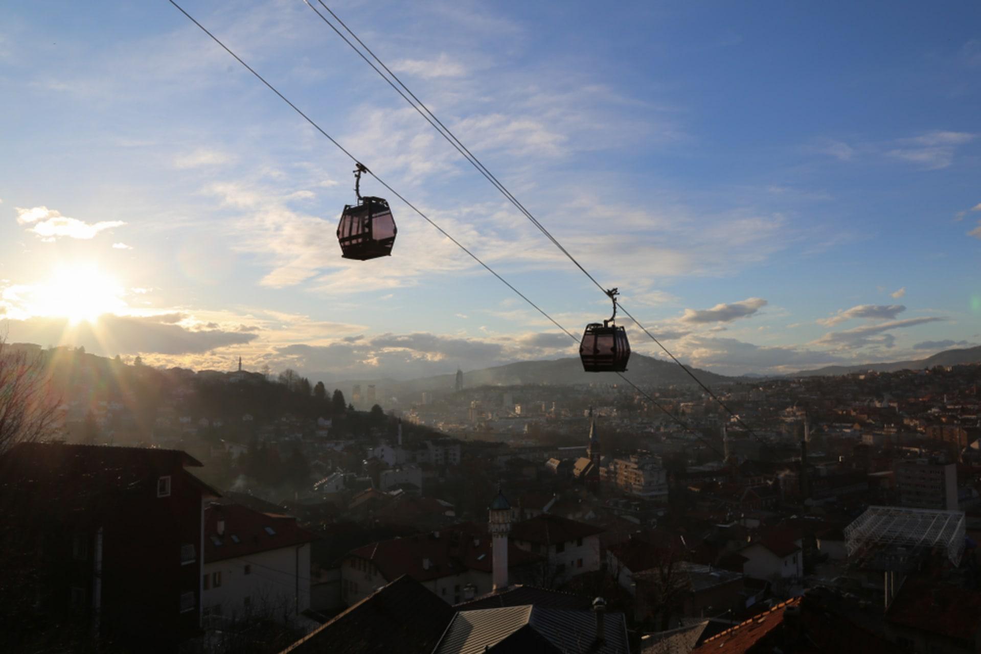 Sarajevo - Cable car and Sarajevo panorama
