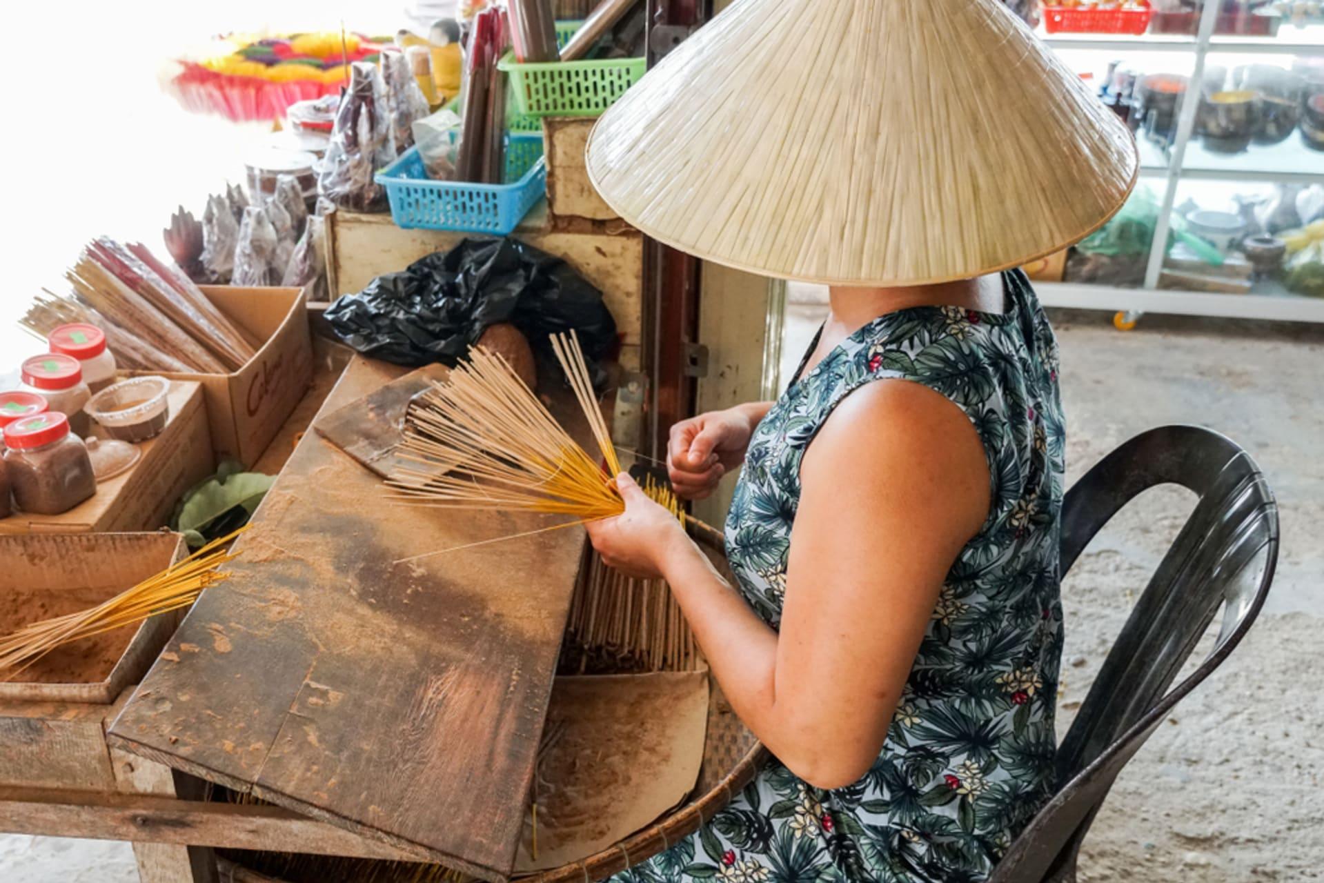 "Hue - Discovering Huế - Day 3: Visit a Colorful ""Incensed Village"" & The Art of Making Incense Sticks"