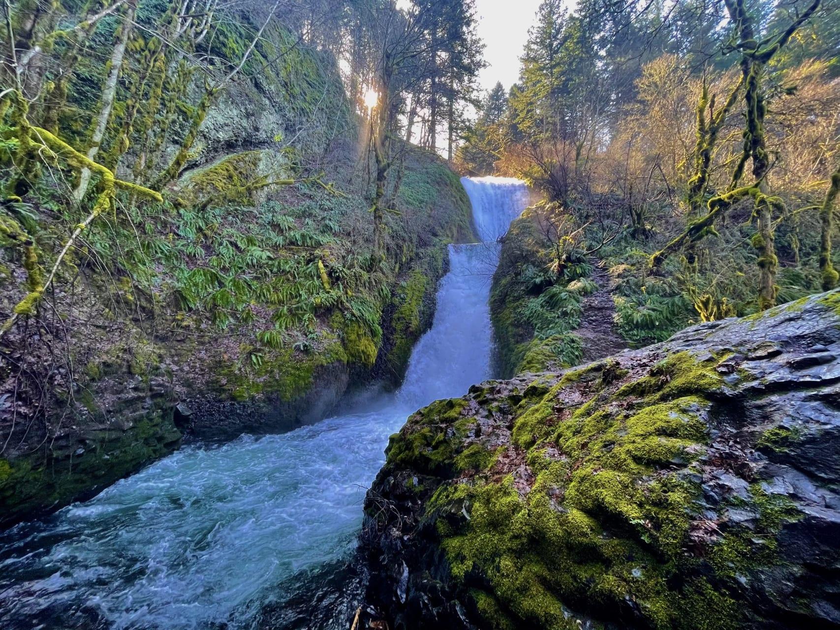 Oregon - Bridal Veil Falls along the Columbia River in Oregon