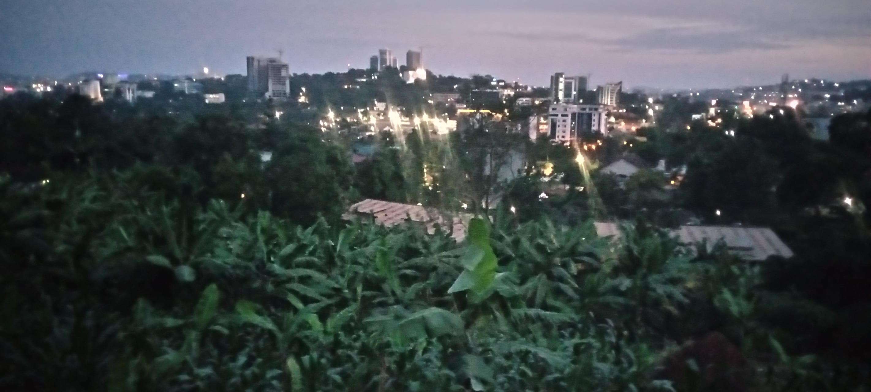 Kampala - Kampala Skyline Lighting Up