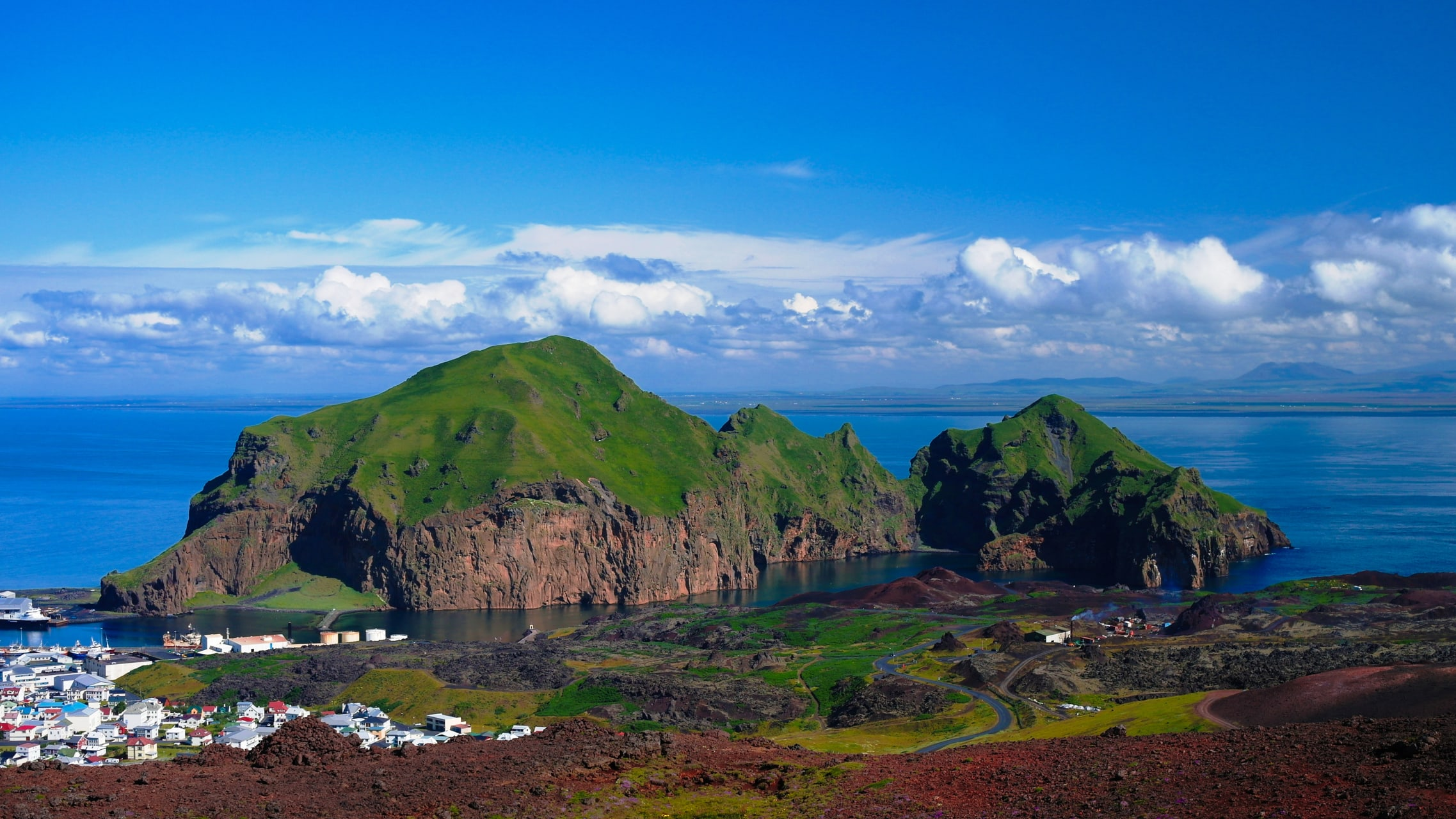 South Iceland - Westman Islands - a recent eruptive site with 5000 inhabitants