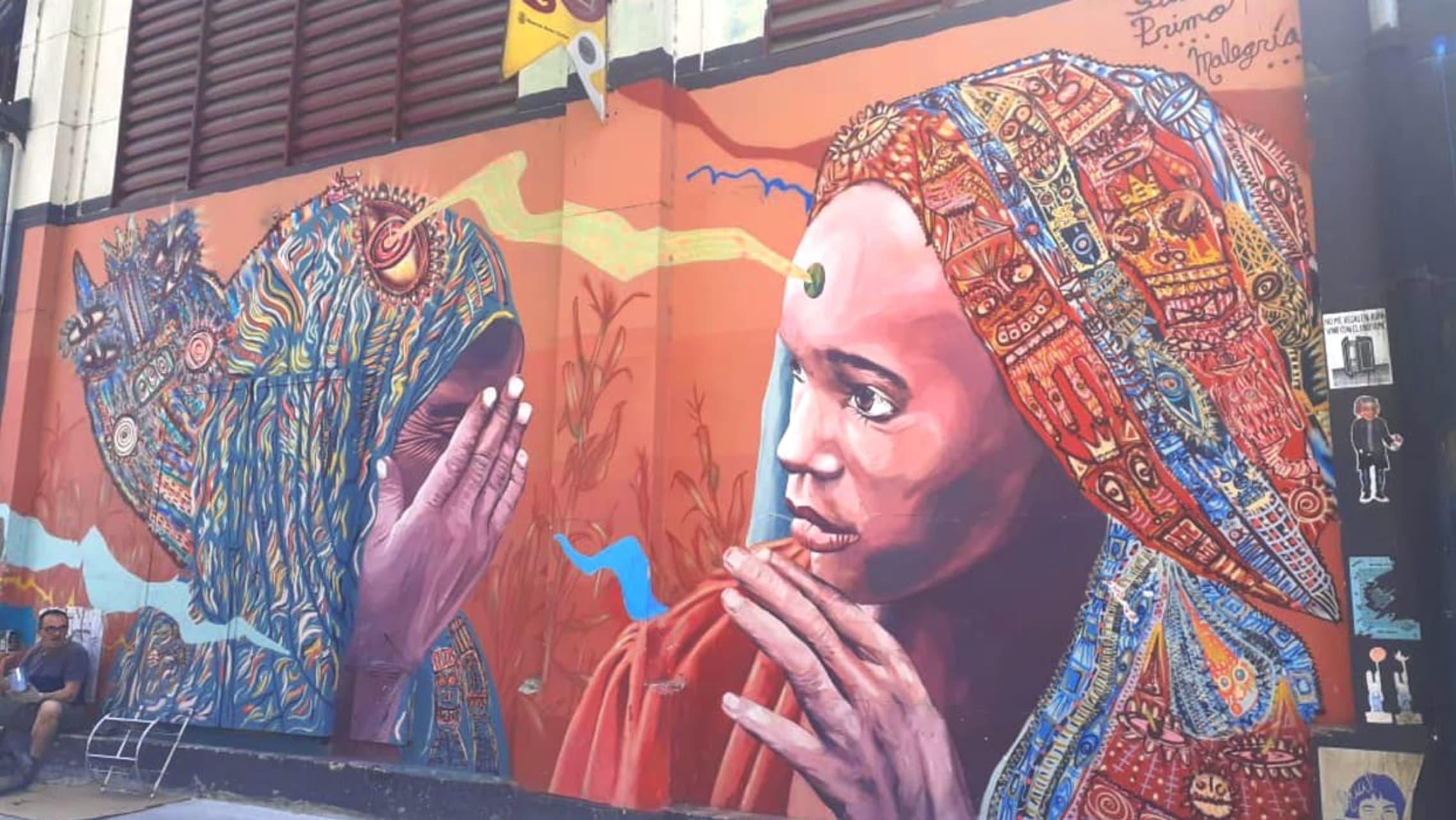Buenos Aires - (TOUR IN SPANISH) El mejor STREET ART alrededor del Mercado de las Pulgas