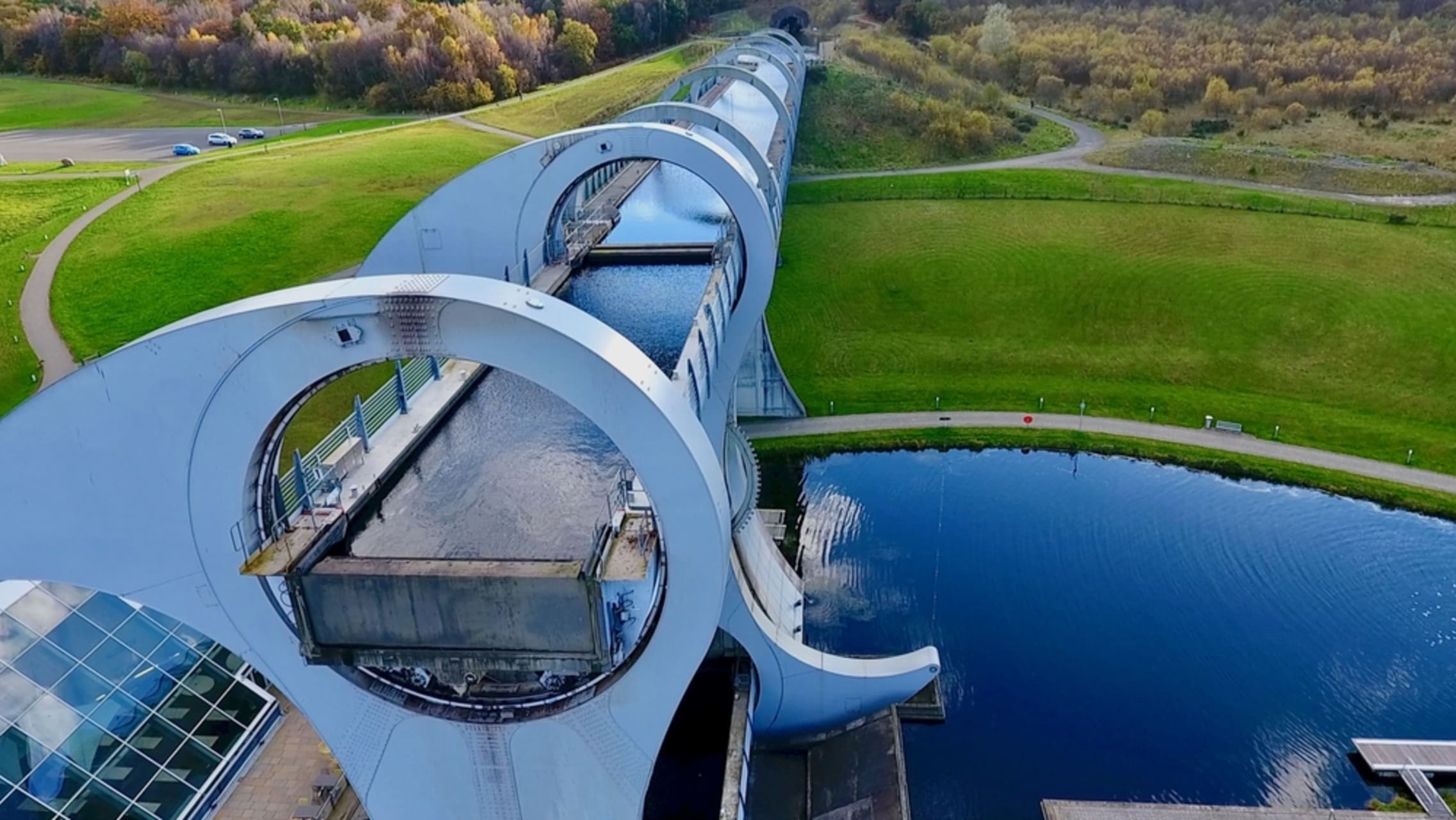 Central Scotland - The Falkirk Wheel - the world's First and Only Rotating Boat Lift