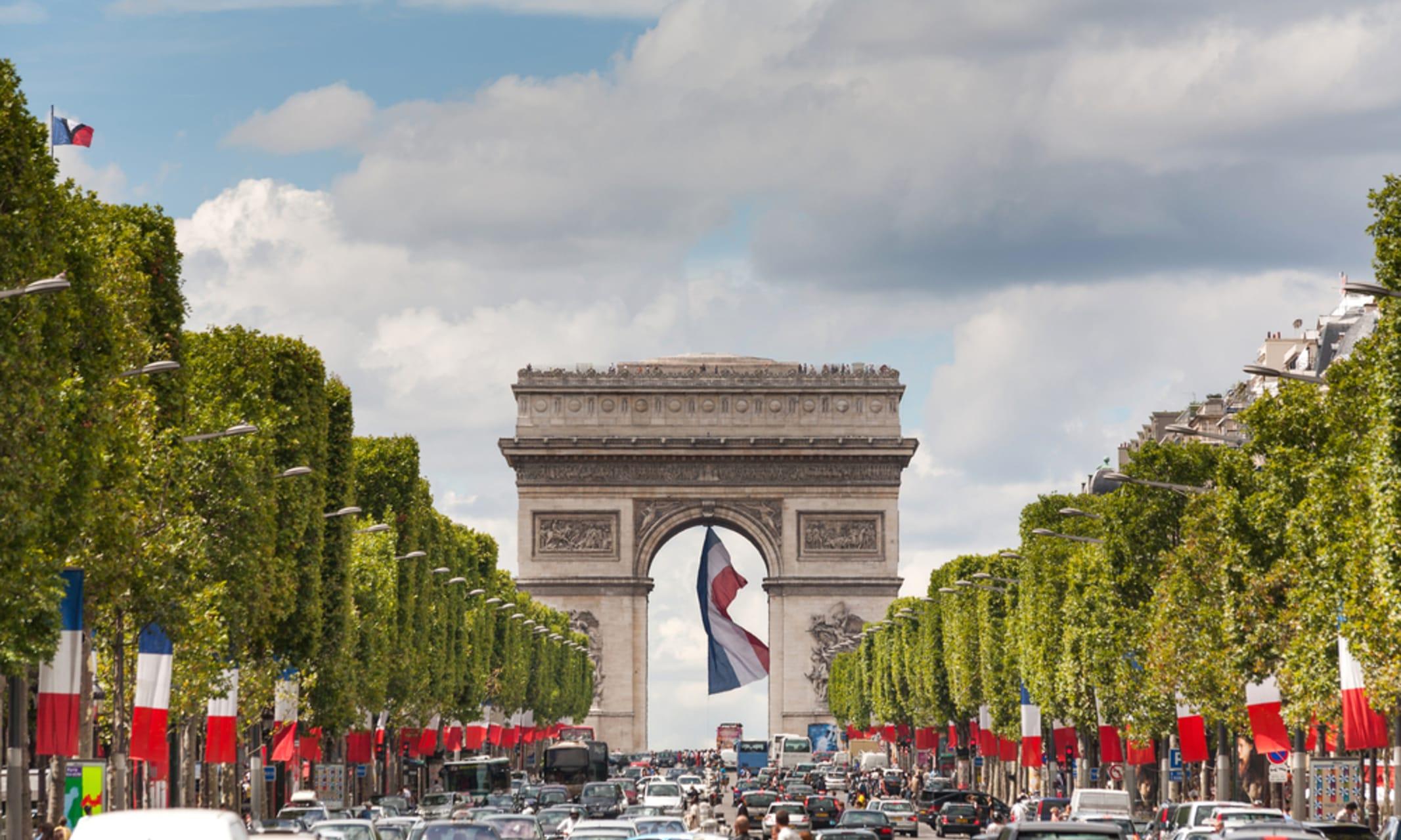 Paris - Champs-Élysées and Arc de Triomphe