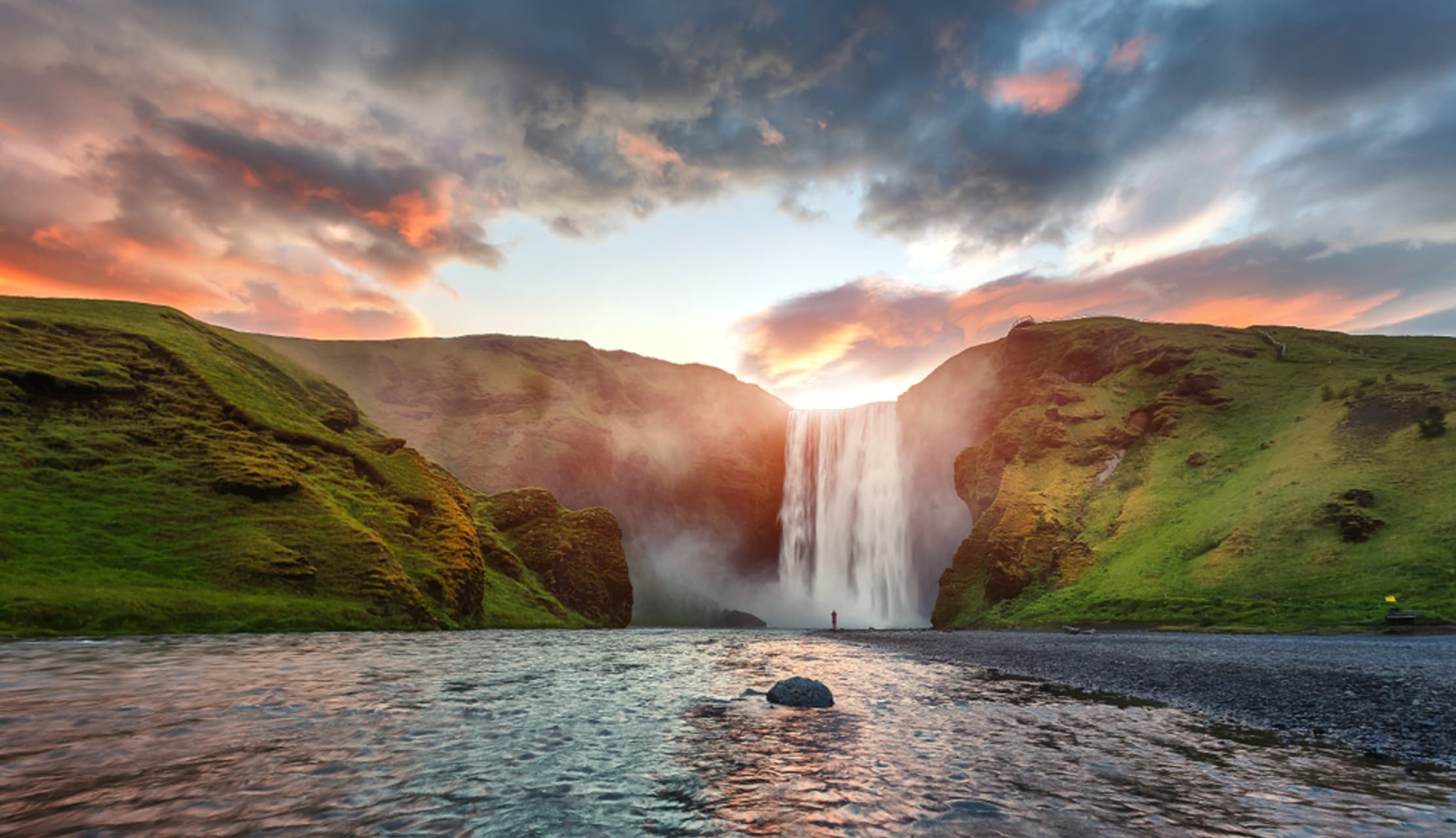 South Iceland - Skogafoss Waterfall and Iceland's Input into World Architecture – the Turf Houses.