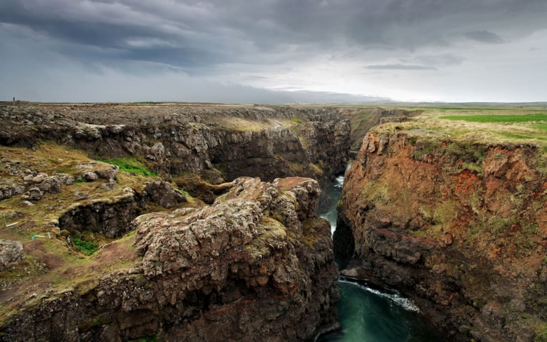 North Iceland - Kolugil, Home of The Troll And Her Burial Mound is Nearby