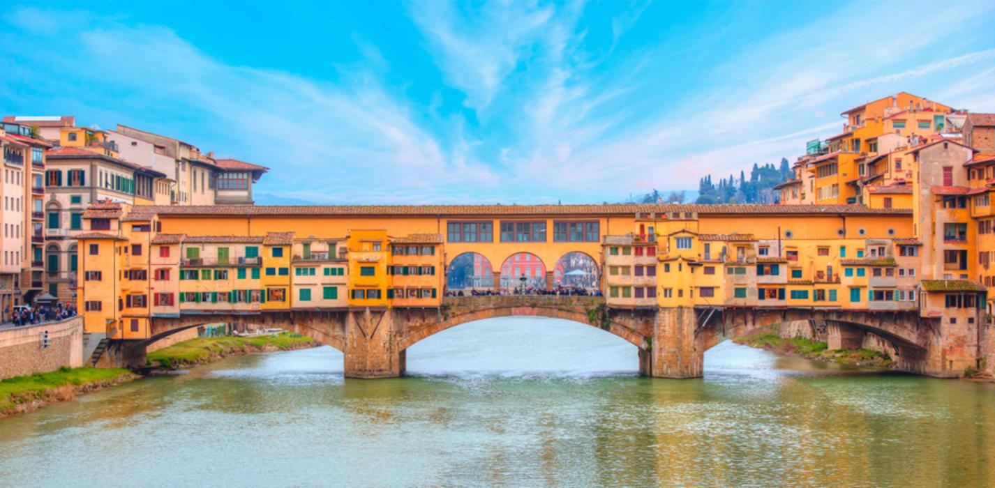 Florence - Palazzo Vecchio & Ponte Vecchio