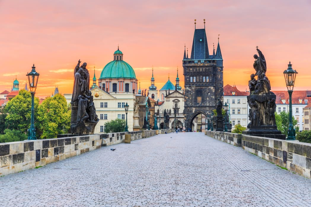 Prague - The Prague Royal Way: Across Charles Bridge