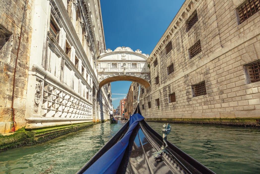 Veneto - Venice Gondola ride, St Mark square, bridge of sighs and inner canals
