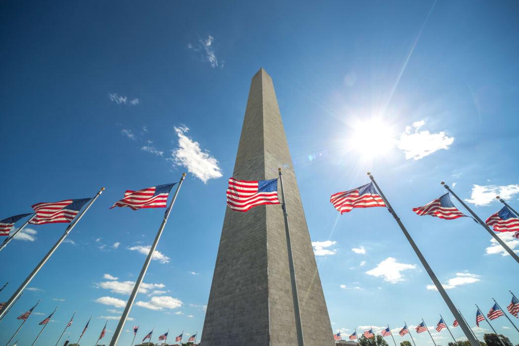 Washington D.C. - Memorials Close-up Part 2: The World War II Memorial and the Washington Monument