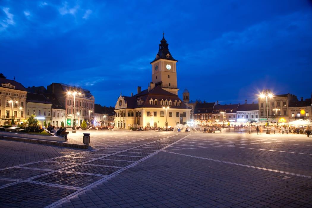 Transylvania - The medieval city of Brasov by Night