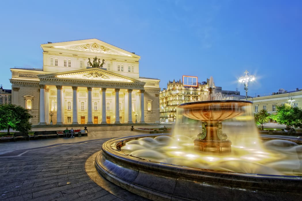 Moscow - The Bolshoi Theatre and underground river