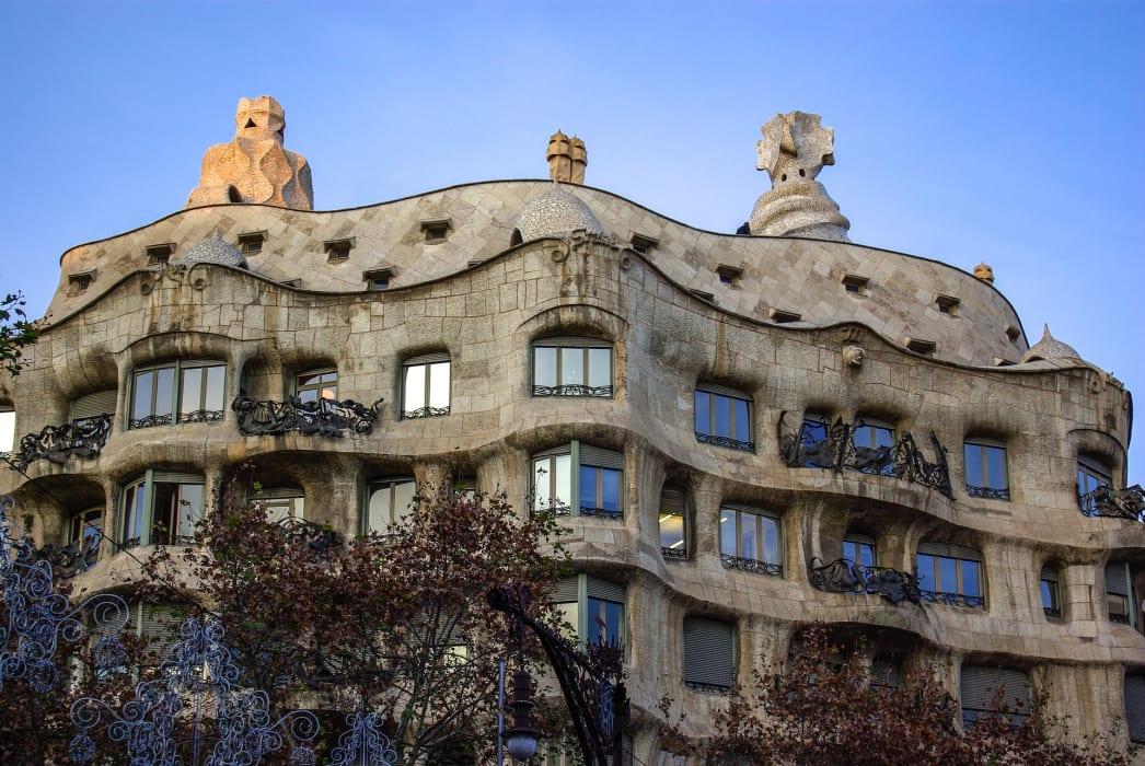 Barcelona - Gaudi's Whimsical Houses by Night
