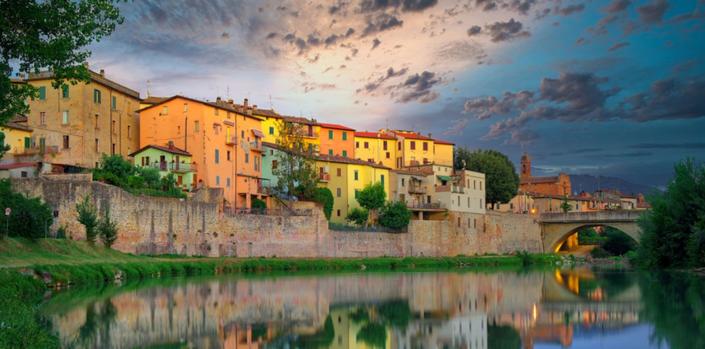 Umbria - Umbertide - a Fortress, the Tiber and the Second World War