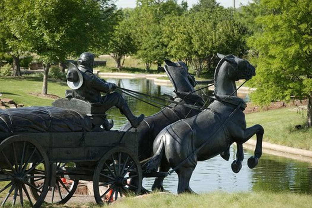 Oklahoma City - Canal Part 1 - Chickasaw Plaza & the Centennial Land Run Monument