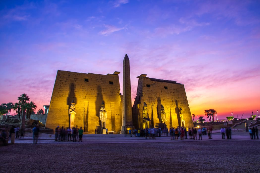 Luxor - Luxor Temple At Sunset