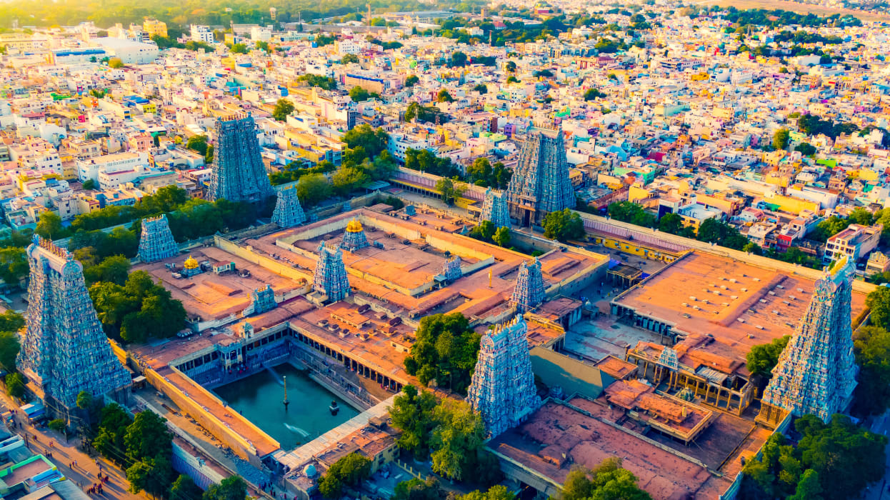 Madurai - Temple City of India - Laid out in the Shape of a Lotus.