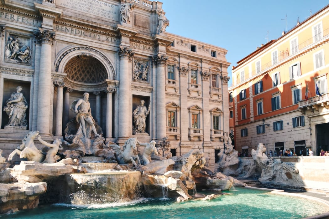 Rome - The Pantheon and Trevi Fountain