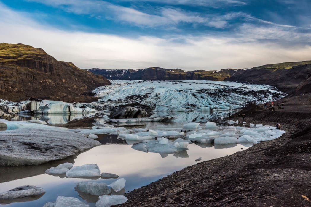 South Iceland - Solheimajokull Glacier Snout – a Reminder of the Effects of Climate Change