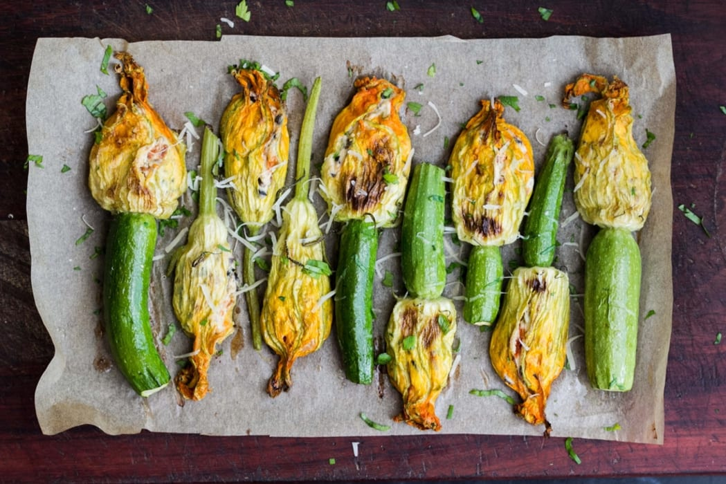 Rome - Stuffed zucchini flowers recipe