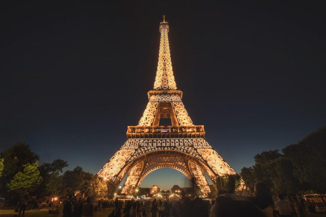 Paris - The Eiffel Tower by night