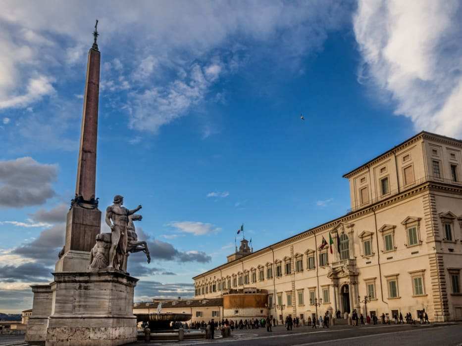 Rome - Il Quirinale: The presidential house and Changing of the guard