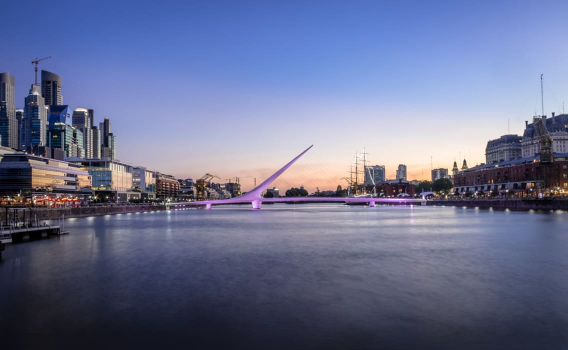 Buenos Aires - Puerto Madero - From the old docks to the new skyline.
