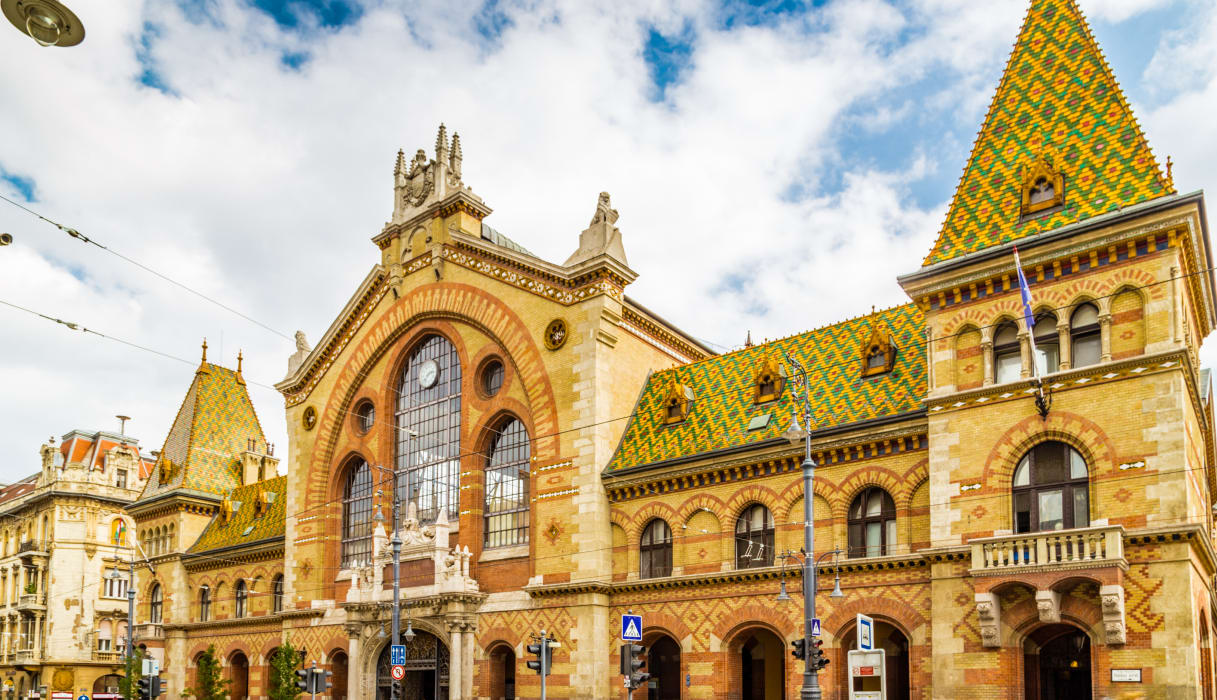 Budapest - The Central Market Hall- Budapest's Largest Indoor Market and The Liberty Bridge area
