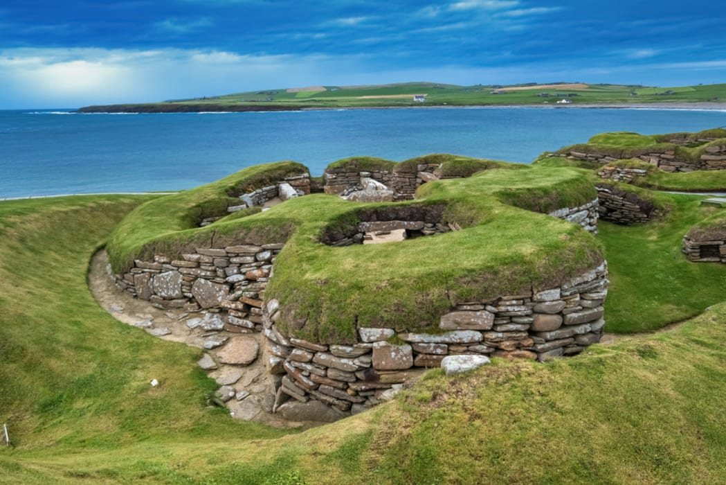 Orkney - Skara Brae, One Of The Best Preserved Neolithic Settlements In Western Europe
