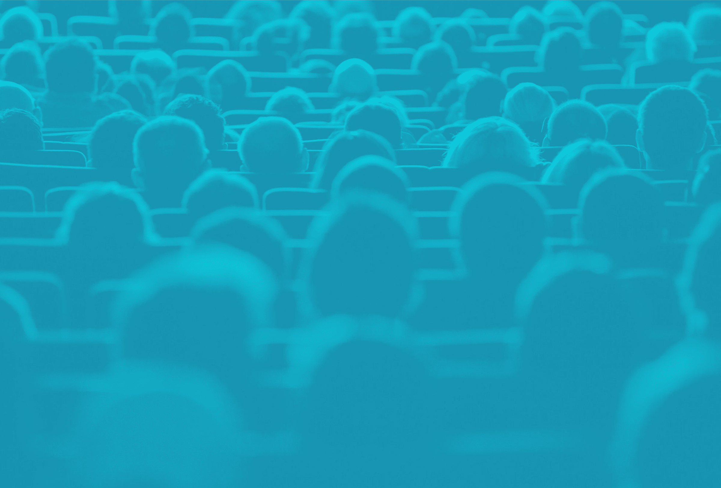 decorative image of heads in a crowded auditorium