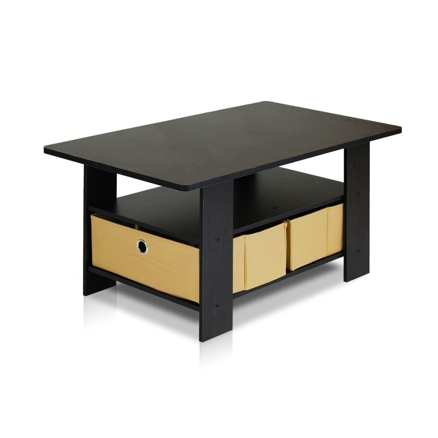New york coffee table storage bins espresso furnino brown living new york coffee table storage bins espresso furnino brown living room stylish geotapseo Image collections