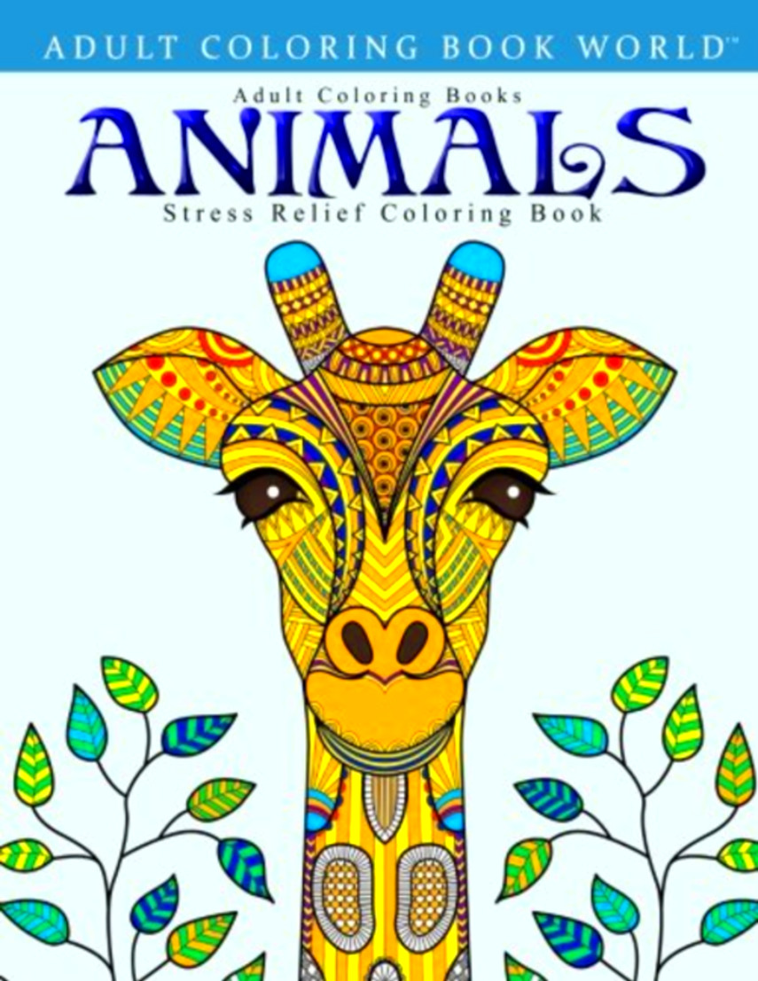 - Stress Relief Adult Coloring Books: Animals EBay