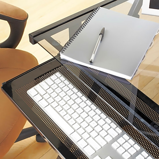 home computer desk glass top home office student furniture modern study table