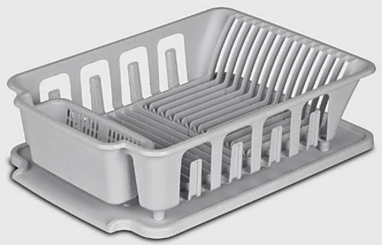 Dish Rack Drainboard Set Utensils Wares Drying Drainer Sink Kitchen Large 2  Pcs