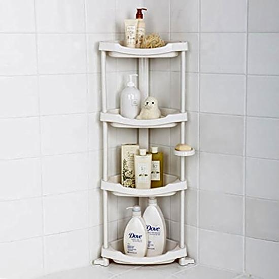Corner Bath Caddy Rack Holder 4 Tier Shelf Shower Storage Bathroom Organizer