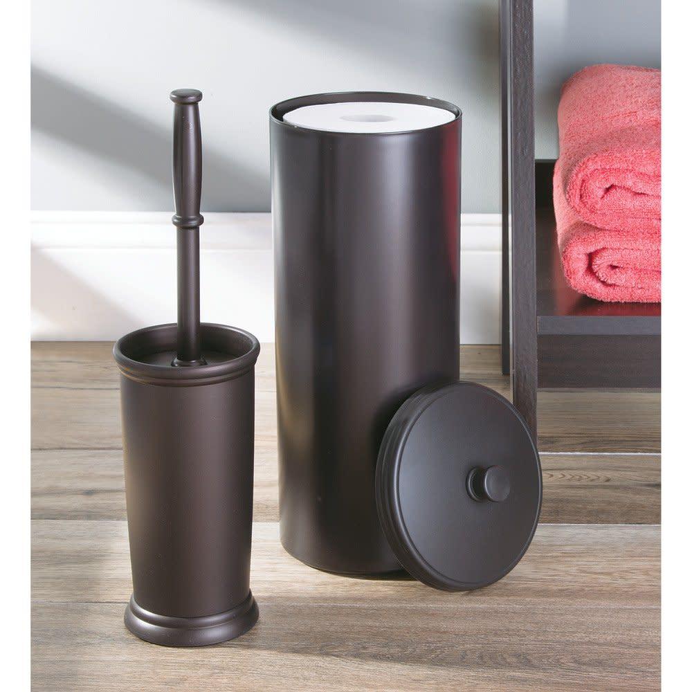 free standing toilet paper roll holder for bathroom decor tissue storage plastic ebay. Black Bedroom Furniture Sets. Home Design Ideas
