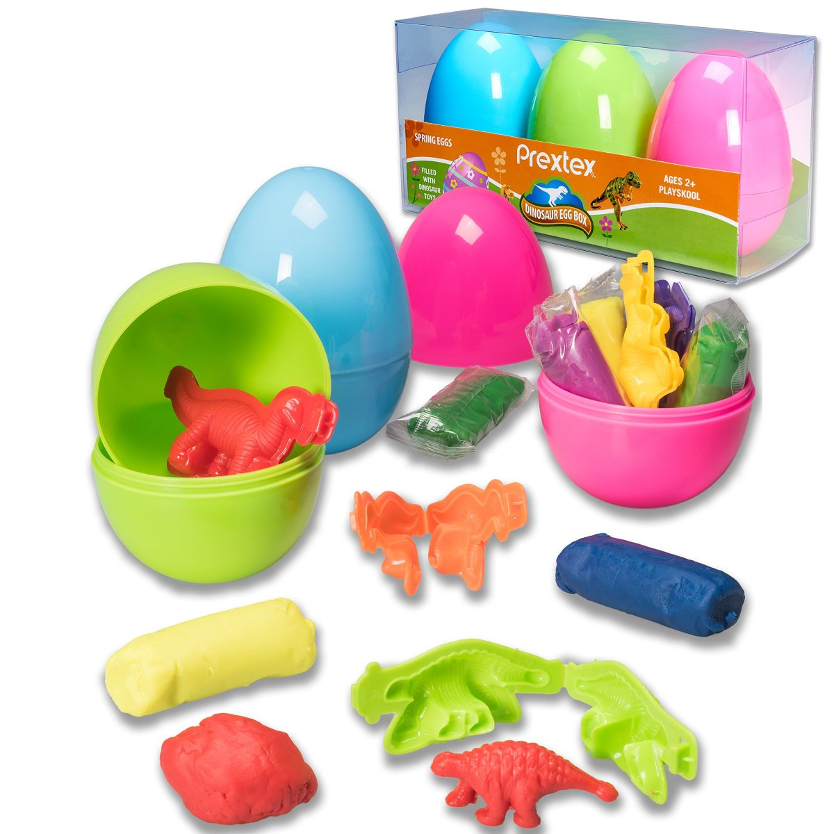 Dyed Le Dinosaur Eggs Nest