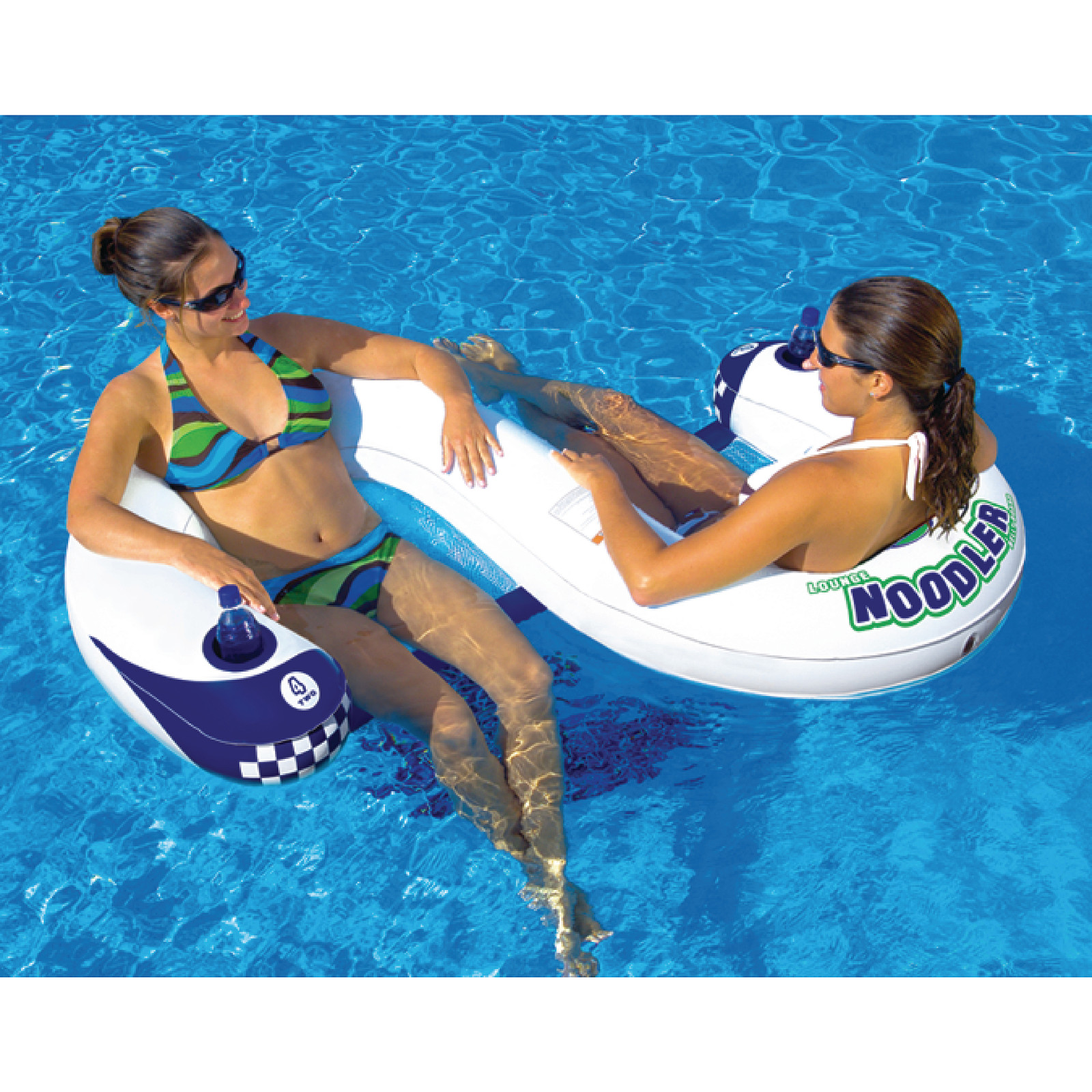 Noodler 2 Inflatable 2 Person Lounge Chair Swimming Pool Toy