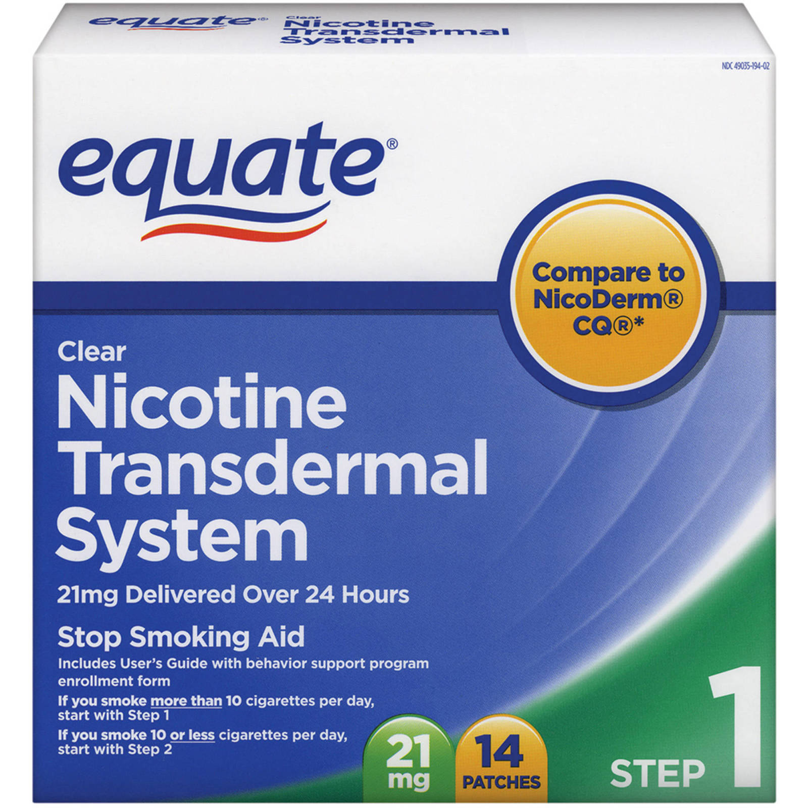 Equate Nicotine Transdermal Patches Patch Smoking Free Non Cigarette Stop 681131187381 Ebay