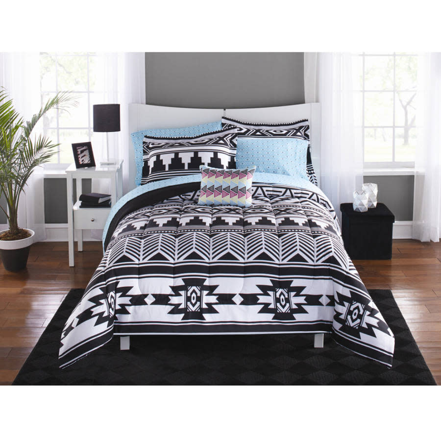 duvet pattern cover black comforter white products aztec allyson and new lifestyle johnson