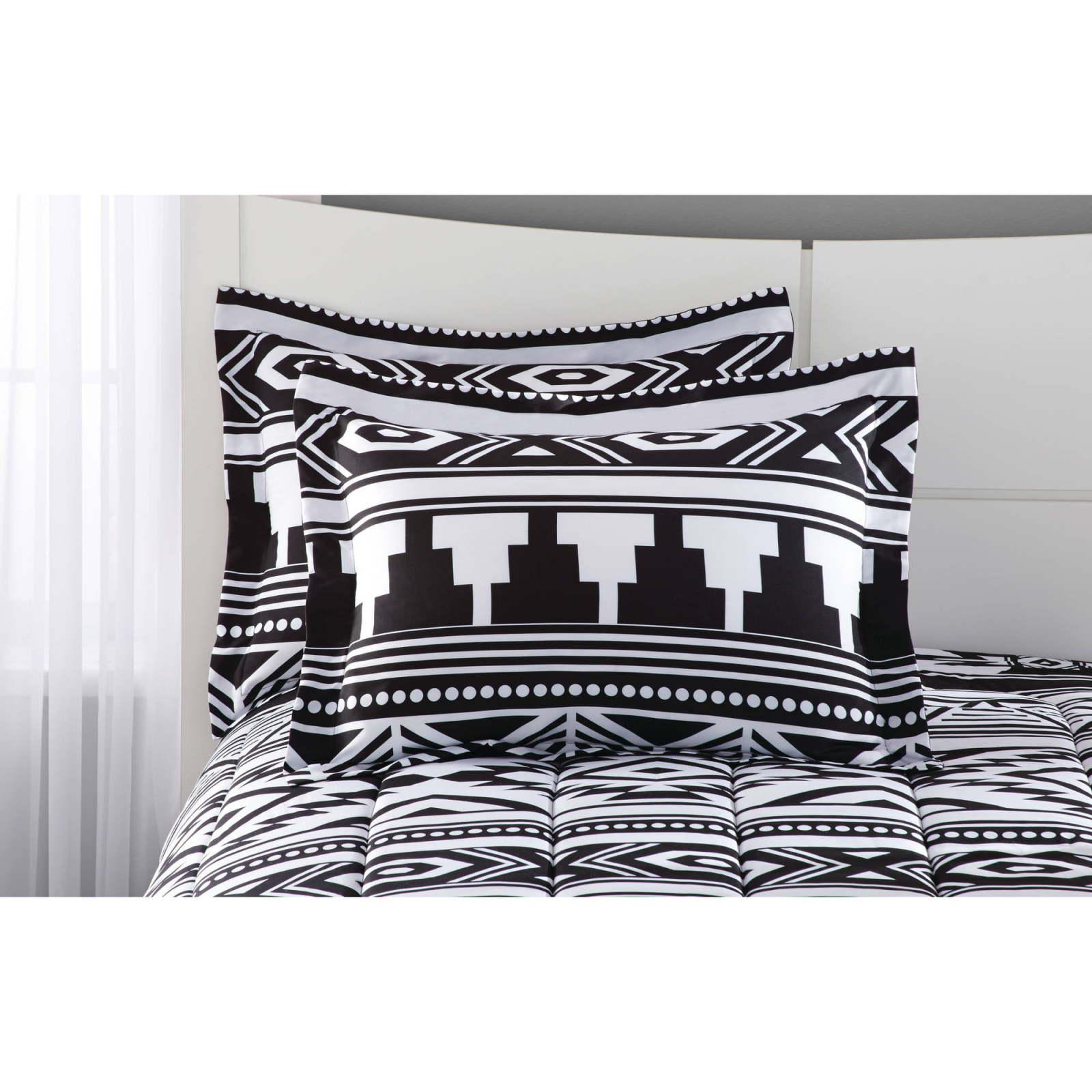 Full Size 20pc Comforter Bedding Set Aztec Black White Southwest ...